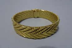 18 kt gold plated wide bracelet