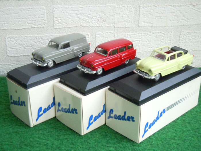 Leader - Scale 1/43 - Lot with 3 x Opel Olympia