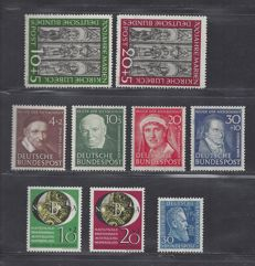 Federal Republic of Germany 1951 - selection - Michel 139/140, 141/142, 143/146 and 147