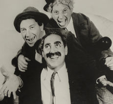 Unknown/Agenzia Farabola - The three Marx Brothers, 1937 & Groucho Marx, 1940