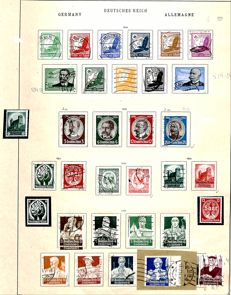 German Reich - 1872 - 1942 - advanced and duplicated collection with blocks and letters on album pages