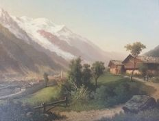 Unknown (20th century) - Initialled GD Swiss Artist Chamonix et Le Mont Blanc