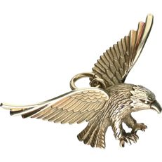 8 kt yellow gold pendant in the shape of an eagle – length x width: