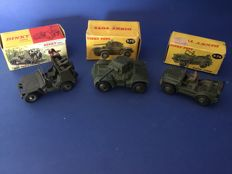 Dinky Toys - FR/GB - Scale 1/48 - Lot with 3 Military Vehicles: Nos.670, 674 and 828