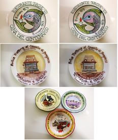 Buon Ricordo plates - Italian restaurants of the 1970s - 2000
