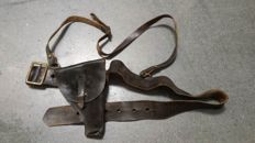 Nice and Complete WW2 Italian Fascist (Camicie Nere) Black Shirts officer Belt and holster!