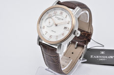 Thomas Earnshaw Fitzroy men's wristwatch, 18 kt rose gold plated, leather strap
