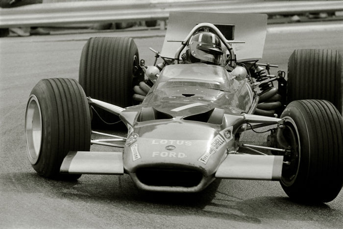 1969  Monaco Grand Prix Graham Hill Lotus Photograph 54cm x44cm