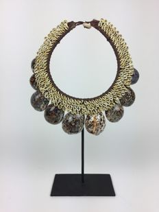 Necklace of tiger cowrie shells - IATMUL - Papua New Guinea