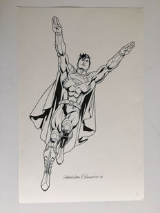 Brett Breeding / Garcia Lopez - Original Drawing - DC Licensing Art - Superman - (2014)