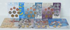 Greece – Year packs 2003, 2007, 2008, 2009, 2010 and 2011 (7 pieces)