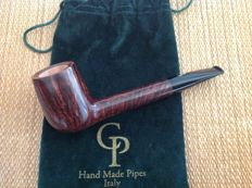 "Unsmoked Paolo Corso pipe, ""Trout"", Canadian shape, beautiful straight grained briar, hand made in Italy!!"