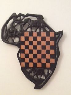 African chessboard - made in Kenya by the Masai people