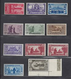 Italy 1931/1934 - S. Antonio and Ships - Sass. Nos.  292/298, 299 and 300/302
