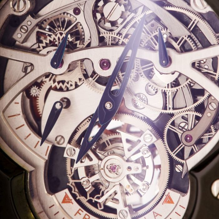 Frank Vila and�and�n Knop Chronograph Squelette Tourbillon Pvd