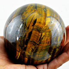 "Fine golden Marra Mamba Tiger's Eye ""healing Sphere"" - 92 mm - 1121 gm"