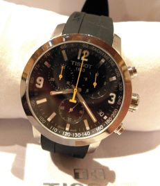 TISSOT Prc200 CHRONO - Men's wristwatch - Yellow hands - NEW CONDITION - Rare