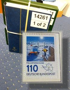 Federal Republic of Germany - collection 1960/1989 in Leuchtturm album + stock book with duplication from the 1990s