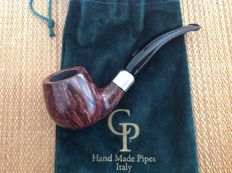 "Unsmoked Paolo Corso pipe, ""Trout"", army mounted, 360 straight grained briar, hand made in Italy!!"
