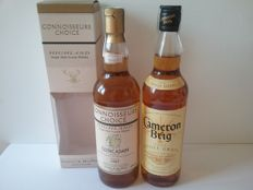 2 bottles - Glencadam 1987 43%  and Cameron Brig 40% 70cl