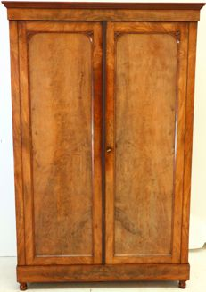 A late Biedermeier mahogany wardrobe - Germany - circa 1860