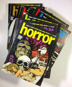 Horror - Lotto of 15 magazines - ##1/16 (# 5 is missing) - Paperback - 1969-1971
