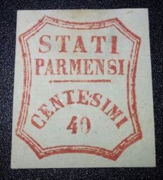 Modena 1859 - 40 cent. vermilion, Sassone no. 17