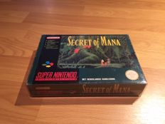 "Snes ""Secret of Mana"" Fully Complete with manual and map and nintendo seal on one side."