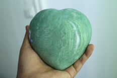 Large Amazonite Heart - 11.9 x 11.8 cm - 960 g