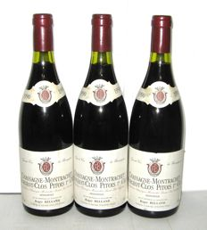 1990 Chassagne-Montrachet 1° Cru Morgeot Clos Pitois, Domaine Roger Belland – Lot of 3 bottles