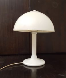 Unknown Designer - Vintage Metal Mushroom Table Lamp With Plastic Hood