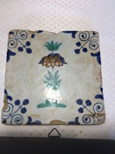 Lot of 7 Dutch tiles, 17th century