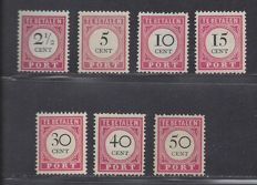 Netherlands East Indies 1892/1909 – Postage due P14/P17 and P19/P21