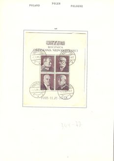 Poland 1910/1960 – collection on album pages