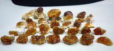 Orange/Yellow Spessartine Garnet Crystals Lot - 165 gr (31)