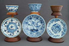 Collection of 3 cups and saucers - China - 18th century