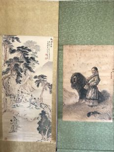 Two scrolls - China - late 20th century