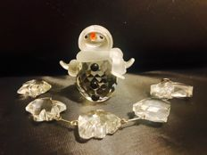 Swarovski - Snowman with Christmas Window Ornament
