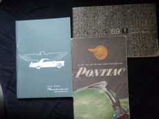 3 American user manuals - Pontiac 1948 - Pontiac 1969 - Ford Thunderbird manual from 1956