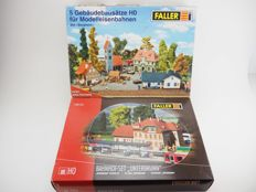 Faller H0 - Set Bergheim and station set Unterbrunn