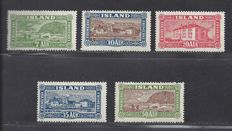 Iceland 1925 - Landscapes and Buildings - Michel 114/118