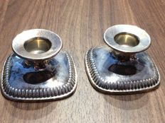 Set of silver candlesticks