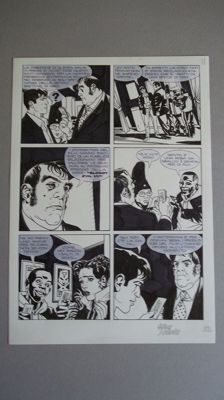 "Di Vincenzo, Maurizio - 2x original plates ""Dylan Dog"", Albo Gigante no. 11, pages 82 and 83 (2002)"