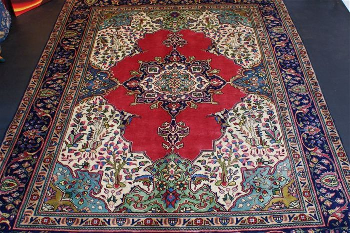 Hand-knotted original Persian carpet, oriental Tabriz approx. 328 x 244 cm, perfect condition