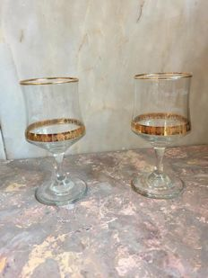 Pair of goblets memorabilia of Lady Di's wedding
