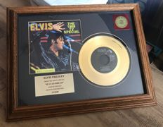 Elvis Presley 24k Gold Plated Record - If I Can Dream