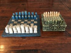 2 stone Mexican chess sets