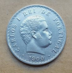 Portugal – 500 Réis 1900 – D. Carlos I . Very Rare. Above Average
