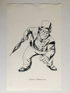 Brett Breeding / Mike Mckone - Original Drawing - DC Licensing Art - Penguin - (2009)