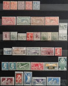 France 1900/1937 - Selection of semi-modern values including Mouchons, Mersons - Between Yvert no. 112 and 337